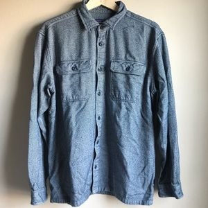 Patagonia Mens Blue Flannel Shirt Large Organic
